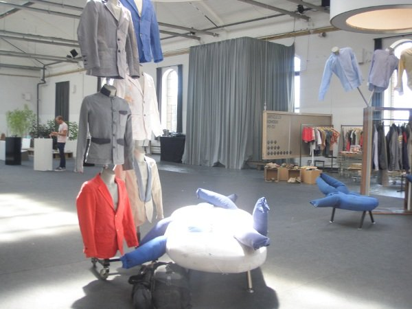 A display of the men's eco-clothing which is made from fair-trade cotton.Photo: Emma Duester