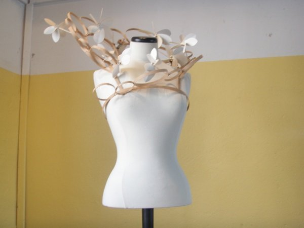 An extension of a necklace, this piece is made out of wood.Photo: Emma Duester
