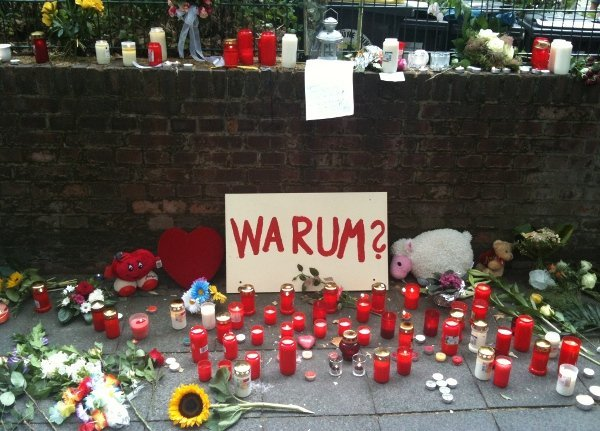 Floral tributes at the tunnel.Photo: Derek Scally
