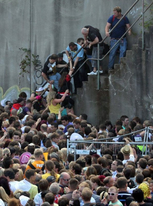 Most of the victims died near the stairway leading away from the tunnel, pictured here. Photo: DPA