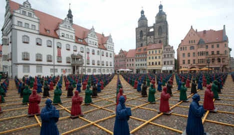 Luther statues create colourful controversy in Wittenberg