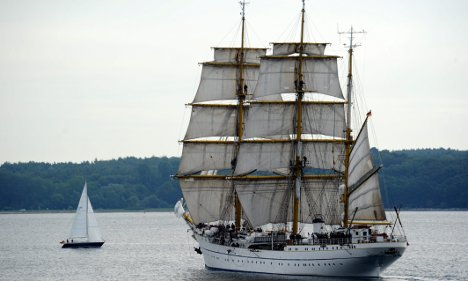 Navy training ship Gorch Fock sets sail for South America