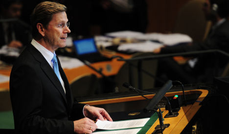 Westerwelle appeals to small states for UN Security Council seat