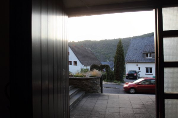 The view from one of the bunker's covers, a house in a residential area. Many townspeople found out only recently what the 'air-raid shelter' was really used for. Photo: DPA