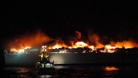 240 rescued as Baltic ferry catches fire