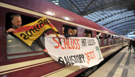 Stuttgart 21 protests come to Berlin