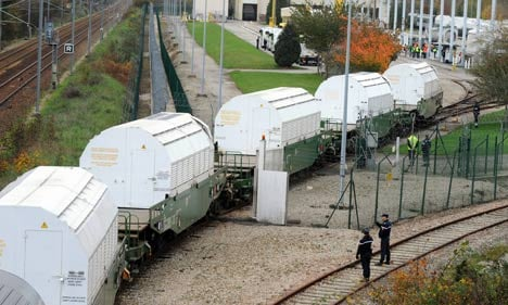 Protest blocks nuclear waste train headed for Germany