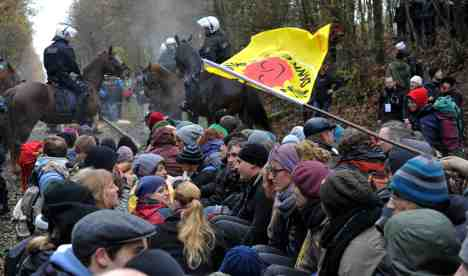 Protests heat up along nuclear waste route