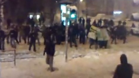 Traditional snowball fight turns into giant melee in Leipzig