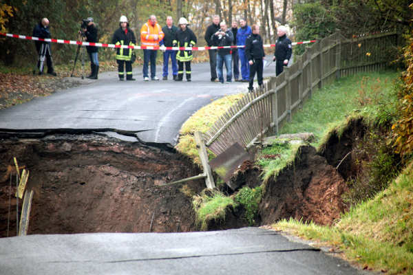 Germany is no stranger to dangerous ground shifts resulting from old mines.Photo: DPA