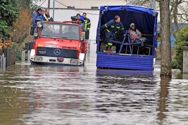 Floodwaters cover Germany