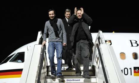 German journalists freed by Iran return home
