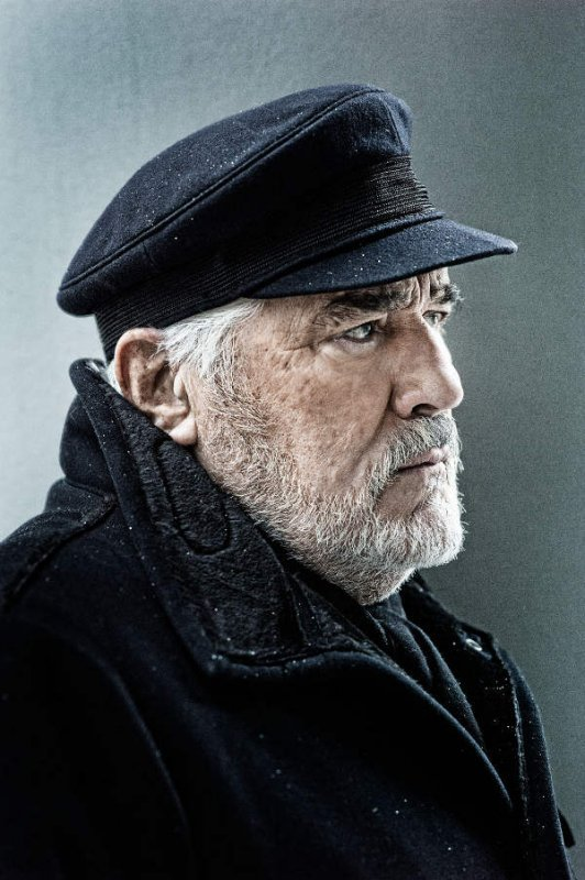 """Actor Mario Adorf wearing a cap from the 1957 film """"The Devil Strikes at Night,"""" which made him famous practically overnight.Photo: Jim Rakete"""