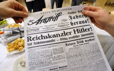 Nazi papers welcome biathlon guests