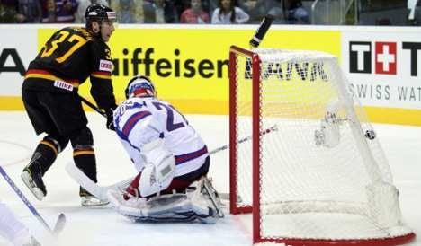 Germany opens ice hockey world championship by beating Russia