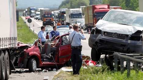 Seven including baby die in autobahn smashes