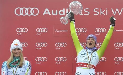 Riesch's row with Vonn simmers on