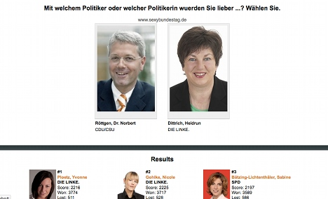 Website ranks the sexiest Bundestag MPs