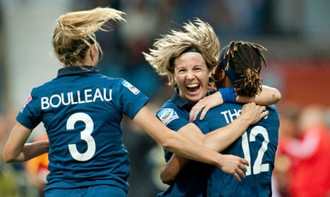 Members of French women's football team pose naked