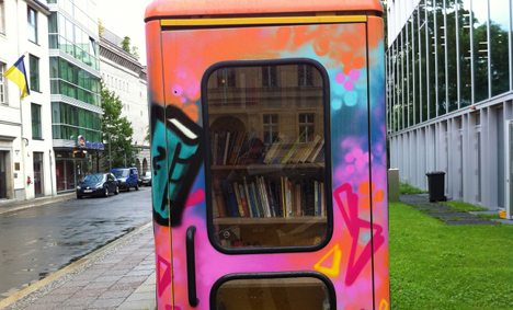 Dialing a good read in a phone booth