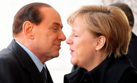 Rumours fly that Berlusconi insulted Merkel's figure on phone