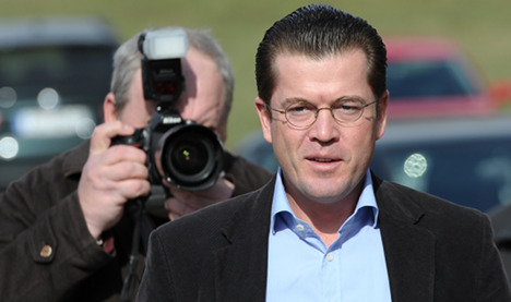 Disgraced Guttenberg now at US think tank