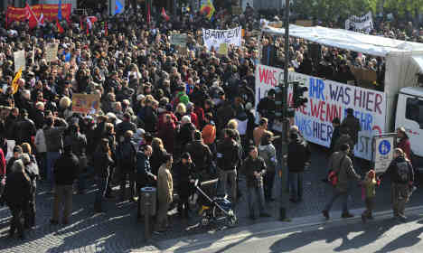 German cities see second, smaller round of 'Occupy' protests