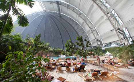 Tropical island warmth – in icy Germany