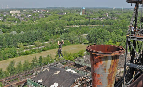 Ruhr ruins invite tourists for highwire hijinks