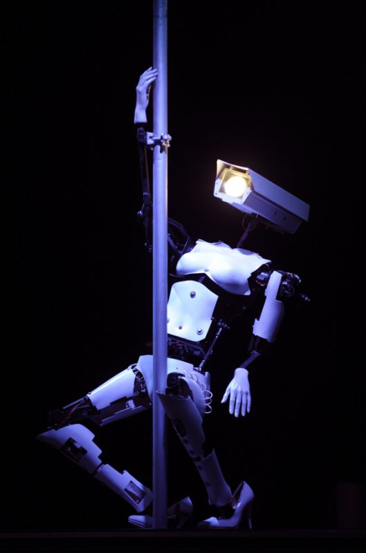 There were some spectacular sights at the fair, including a pole-dancing robot in high-heels. Not sure what it's for, but hey, it's a pole-dancing robot! In high-heels!Photo: DPA
