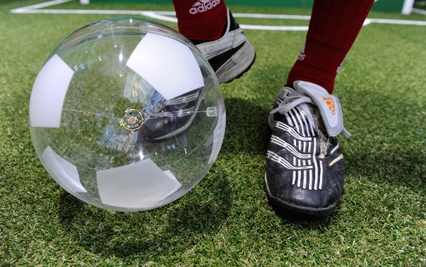And how about some goal-line technology. And an innovative glass football, which could revolutionise the beautiful game.Photo: DPA