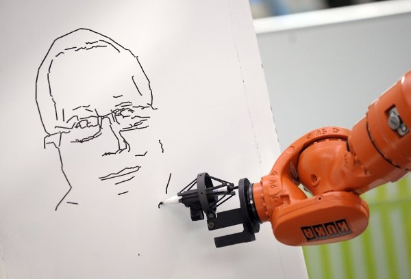 Not all robots end up as pole-dancers. The lucky ones go to art school and make a living sketching tourists.Photo: DPA