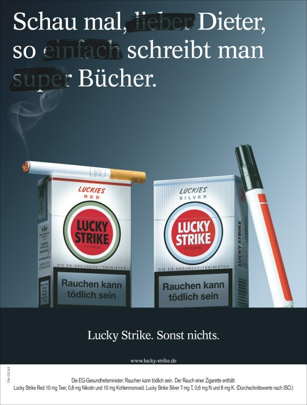 Lucky Strike's naughty ad campaign