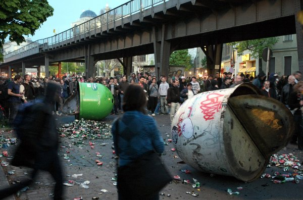 The rapidly gentrifying Kreuzberg district of Berlin is the usual epicentre when trouble starts.Photo: DPA