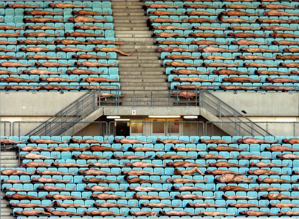 Viennese go free n' easy  in the Ernst Happel Stadium ahead of the 2008 European Championships.Photo: DPA
