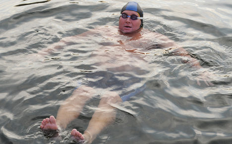Bruno 'The Orca' takes on mammoth swim