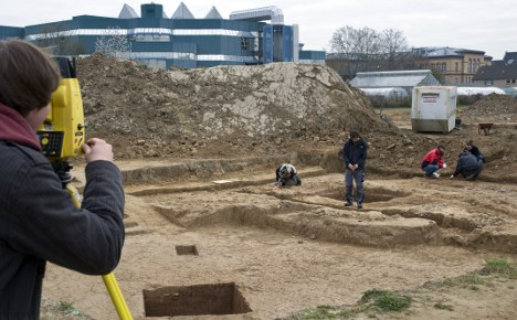 Students find rare Roman temple on practice dig