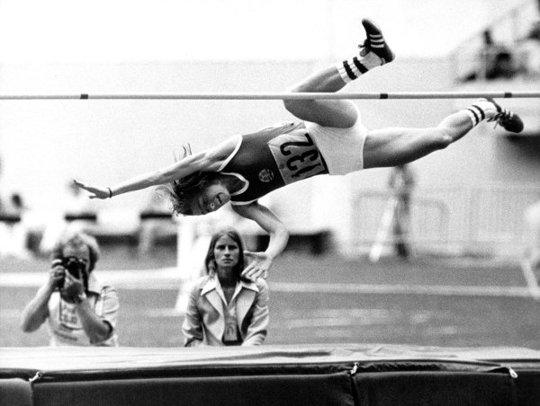 Rosemarie Ackermann <br>Of course, East Germany enjoyed plenty of Olympic glory too. In 1976, Rosemarie Ackermann made an historic leap of 1.93 metres to win the high jump gold in Montreal. It was an Olympic record at the time, but she bettered it in Berlin a year later, when she became the first woman ever to clear two metres.Photo: DPA