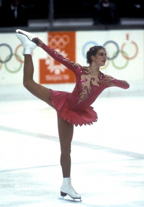 The Great Witt<br>In the 1980's, hearts on both sides of divided Germany were captured by the GDR's ice-skater Katarina Witt, who won the figure skating gold in Sarajevo 1984 and Calgary 1988. She also had a colourful career off the ice, encompassing revelations about 3,000 pages of Stasi files, cameos in Hollywood movies, and a nude Playboy photo-shoot.Photo: DPA