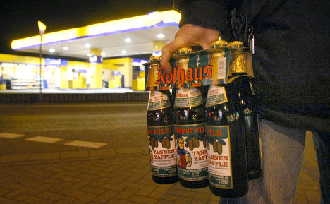 Bavarian late night beer, juice, only for drivers