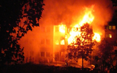 Nine injured in fire at home for asylum seekers