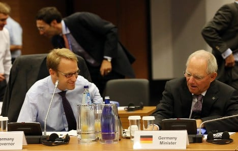 Bundesbank chief stands up to finance minister
