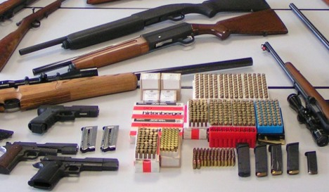 Doctor hid 700 guns and stash of ammunition