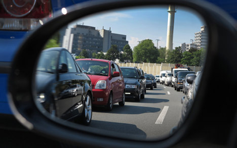 NRW drivers spent 50,000 hours in traffic jams