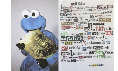 Criminal Cookie Monster blackmails biscuit firm