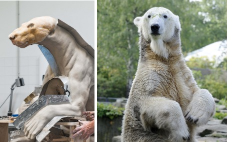 Knut's real fur used for new museum statue
