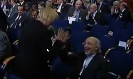 Red face for Green head who high-fived Iran rep
