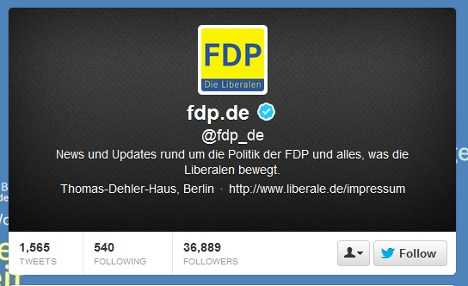FDP: being SOBs makes us popular on Twitter