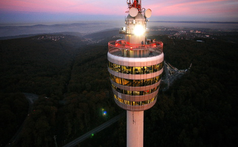 Fire fears ban visitors from Stuttgart TV tower