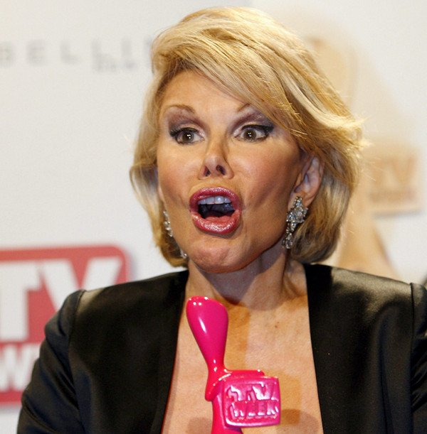 Joan Rivers on Heidi Klum<br>The last time a German looked this hot was when they were pushing Jews into the ovens.Photo: DPA